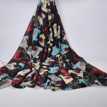 2017 Summer New Fashion Women Scarf Cotton Voile Shawls Elephant Animals Print Thin Long Scarves Lady Sunscreen Beach Silk Scarf