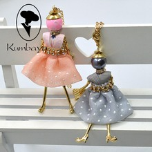 Fashion necklace women Cute Dress Lovely Doll Necklace Crystal Meshes wholesaler gifts female Jewelry Accessories Bijoux NS254(China)