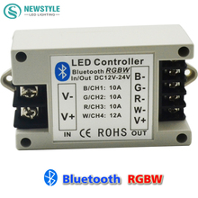RGBW/RGB LED Bluetooth Controller for RGBW/RGB 5050 3528 LED Strip Lighting by Android / IOS Smartphone DC12V 24V