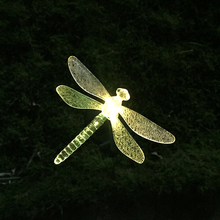 Garden Solar LED Lights Landscape Decoration Waterproof Fairy Light Butterfly/Bird/Dragonfly Change Color Lamp