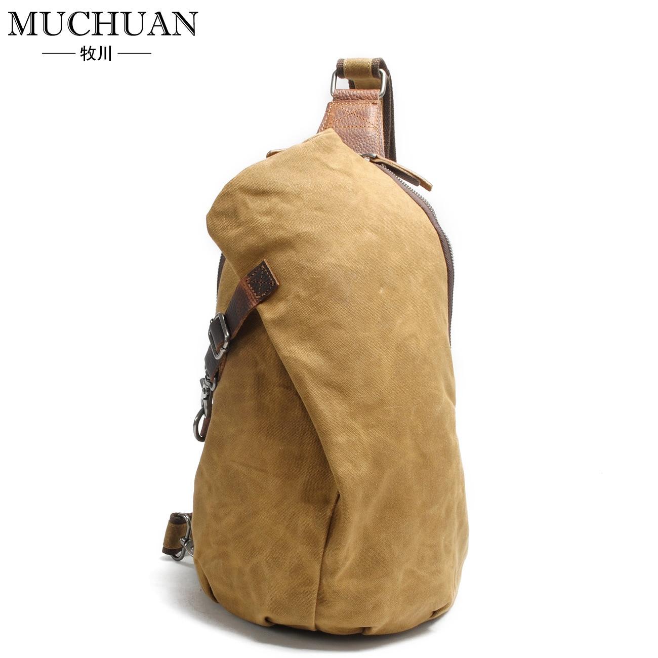 New waterproof batik Chest pack retro pants men canvas shoulder bag leisure dumplings  bag<br>