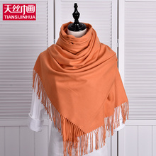 Luxury Brand Scarf Pashmina Echarp Cashmere Scarf Wrap Shawl Winter Scarf Women Men Scarves Long Tassel Wool Cachecol Foulard(China)
