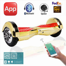 Free Tax 8 inch Chrome Gold Pink Hoverboard Two Wheel Scooter with Mobile APP LED Light Bluetooth Electric Scooters Hover Boards