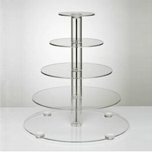 5PCS/PACK 5 Layer Tier Crystal Acrylic  Round Cupcake Display Stand For Wedding Party Christmas Cake Display Rack