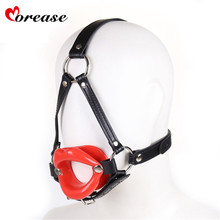 Buy Morease Silicone Force Open Mouth Gag Oral Sex Adult Games Leather Bondage Hood Head Restraint bdsm erotic Sex Toys Couples for $6.98 in AliExpress store