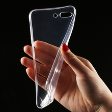 HOT cover For iphone 5 5s 6 6s 7 plus Transparent Clear Case Soft Silica Gel TPU Silicone Ultra Thin for huawei p8 p8 lite coque