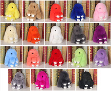 50pcs/lot Very cute 15cm plush bunny rabbit pendant soft cotton multicolor MashiMaro Key chain doll animal Plush stuffed toys