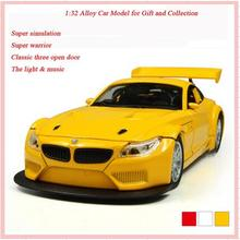 Top Quality KDW Brand 2017 1:32 Z4GT Simulation Diecast Alloy Metal Mini Model Pull Back Automobiles Machine Model boy Toys Gift(China)