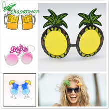 2017 New Hot Sale Hawaiian Beach Flamingo Sunglasses Pineapple Goggles Hen Night Stag Party Fancy Dress Party Event Supplies.b