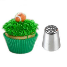 Icing Piping Nozzle Silver Grass Hair Cake Cupcake Decorating Tip Tools LOW PRICE Kitchen Bake Tool