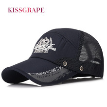 Brand Summer Men's Mesh Baseball Cap Adjustable Size Male Casual Outdoor Hat Snapback Cap Cycling Fishing Breathable Cap Quality