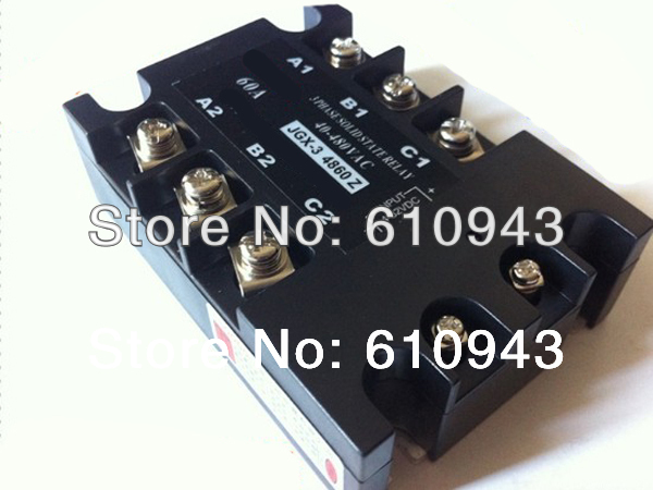 JGX-3-4860Z 60A 40-480VAC 4-32VDC  DC to AC  Three phase Solid state relay SSR relay Free shipping<br>