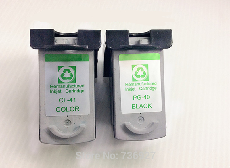 1 set ink cartridge PG 40 CL 41 for canon pg-40 cl-41 PIXMA  MP220 450 460 470 MX300 310<br><br>Aliexpress