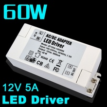 1pc LED Driver Led Power Supply 12V 5A 60W AC DC adapter 100V-240V Power Supply Lighting Transformer LED Lamp Strip 110V 220V