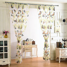 Curtains For Bedrooms Blackout Organdy Fabric Burnt-out Dandelion Butterfly Curtains Made Finished Window Cortina Home Decor