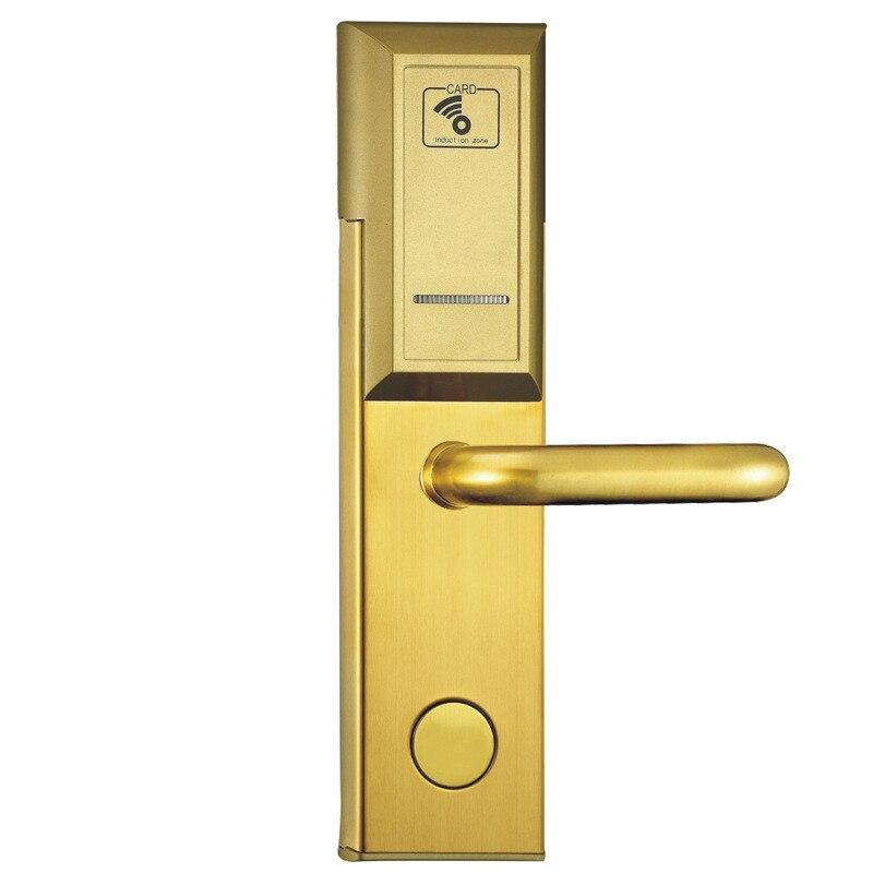 Silver Color RF hotel electronic door locks RFID<br>