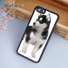 MaiYaCa Husky Puppy Dog fashion soft mobile cell Phone Case Cover For iPhone 7 Plus Custom DIY cases luxury shell(China)