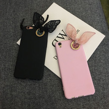 Rabbit Ears Thin Rubber Soft Cover Silicone Case For VIVO V3 V1 V5 Max X9s Plus Y51 Y53 For meitu M4 M4S M6 M6S T8 m8 Case(China)