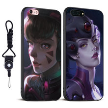 D.VA WIDOWMAKER Coque Soft Silicone Tpu Mobile Phone Case Cover Bag For Apple iPhone X 8Plus 8 7Plus 7 6sPlus 6s 6Plus 6 5 5S SE(China)