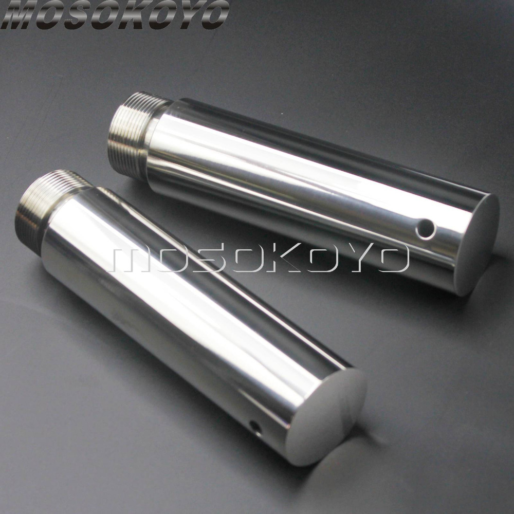 Hard Chrome 39mm Fork Tube Set 27  Total Length,for Harley Davidson,by V-Twin