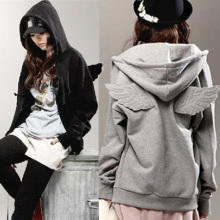 Promotion Fashion new autumn Cute personality angel wings sweatshirt coat loose tracksuits Angel Wing hoodies Top Pullover women