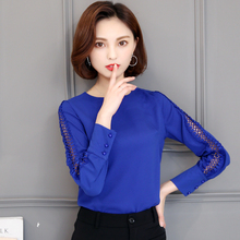 Buy 2018 Spring Blusas Feminina Women Elegant Chiffon Blouses Sexy Blouse Shirt Casual Long Sleeve Shirt Ladies Work Office Tops for $8.95 in AliExpress store
