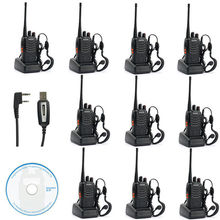 10x Baofeng BF-888s UHF 400-470 MHz 5W CTCSS DCS Two-way Ham Radio Free Earpiece(China)