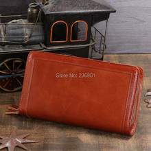 J.M.D Hot Sale High Quality Classic Brown Real Leather Mini Wallet Purse Key Case Men's Hand bag Cartera 8023B