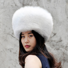 CX-C-169E Alibaba Supplier Winter Women And Men Hat Warm Fox Fur Hat Russian Hat(China)