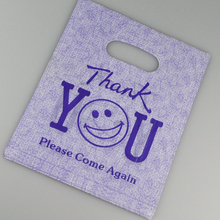 "Wholesale 20x25cm 100 Pieces Purple ""Thank You"" Design Plastic Shopping Bags Favor Wedding Gift Packaging Plastic Bags"