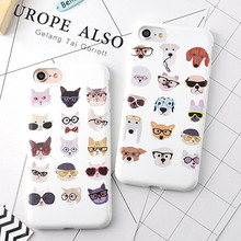 New Soft TPU Cellphone Cases For Apple iPhone 6 6G 6S 6Plus 7 7Plus 5.5 Cute Colorful Cat Dog Pattern Candy Capa Rubber Cover