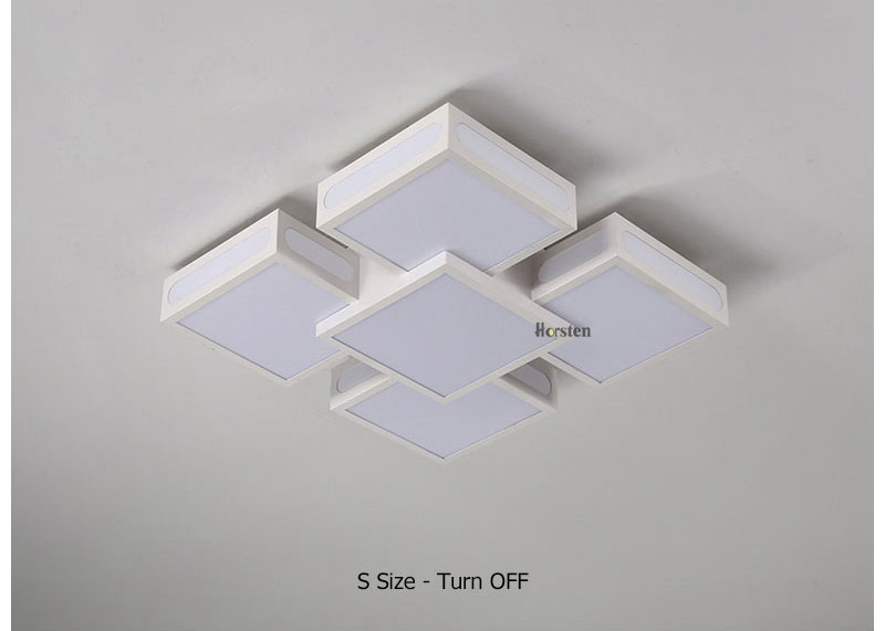 Modern Simple Acrylic LED Ceiling Lights Minimalist Rectangular Ceiling Chandelier Lights Lamp For Living Room Bedroom 220V (12)