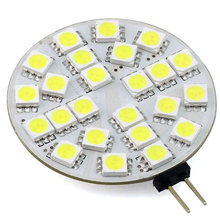 G4 LED Disc Round Range Hood Lights 12V 24V AC/DC LED Ceiling Cabinet Lamp Bulb 24/30 LEDs 5050/3014 3W White Warm White(China)