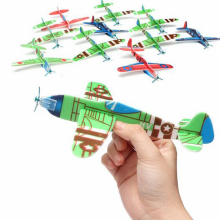 30Pcs DIY Flying Glider Planes Aeroplane Educational Kids Outdoor Fun Sports Toy Game