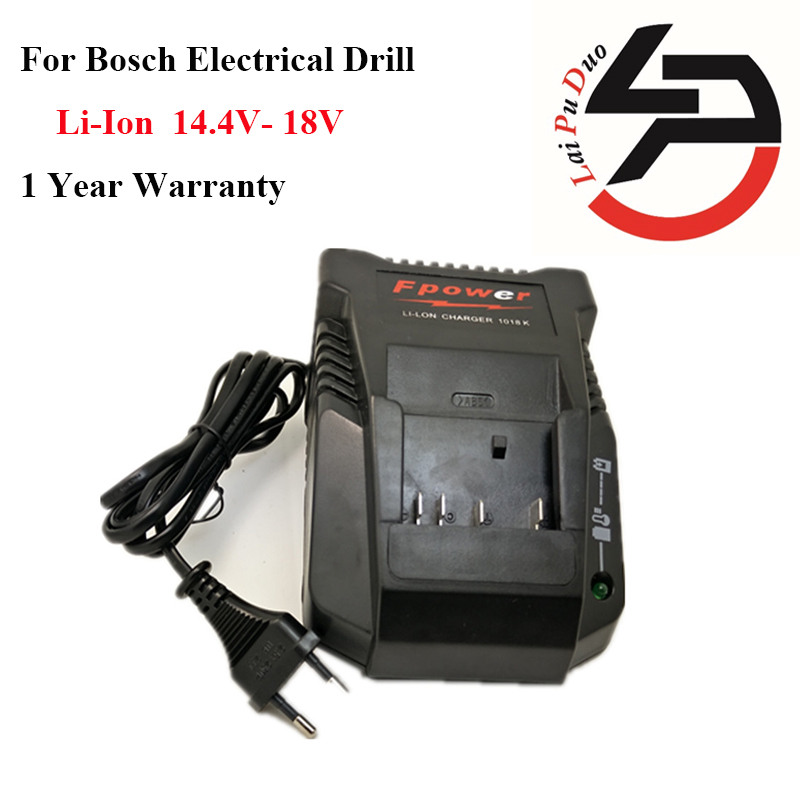 1018K Li-ion Battery Charger For Bosch Electrical Drill 14.4V- 18V Li-ion Battery BAT609G BAT618 BAT618G BAT609 2607336236<br>