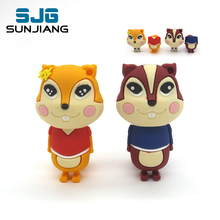 cute cartoon squirrel Pen Drive USB Flash Drive PenDrive 64G/8GB/16GB /32G/4G Memory Flash card High Speed usb stick lovely gift
