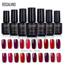 ROSALIND 7ML RED Color Series Color UV Builder Gel Nail Polish Acrylic for Nail Gel Polish Art False Tips Extension Gel Polish(China)