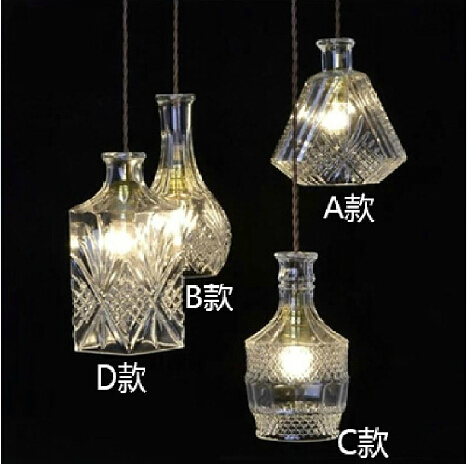 Hand carved glass bottle chandelier chandelier latest ideas, materials glass, (A + B + C + D) / lot, E27, AC110-240V<br>