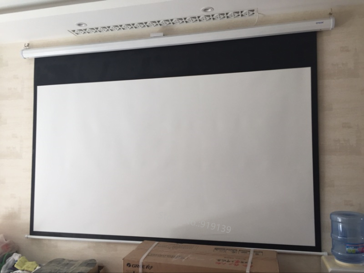 150inch Electric projection screen pic 19