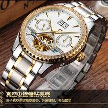 52b8306a681 Multi-função de hombre relogio Suíça Carnaval Diamante Marca de Luxo Homens  Relógios Esqueleto Homens Relógio Turbilhão C8731-1