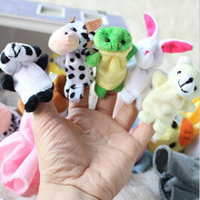 1Pc Cute Soft Colorful Creative Cartoon Animal Puzzle Finger Hand Puppet Early Learning Educational Toys for Kids Funny Games