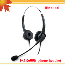 FOR600B Professional Binaural Best headset for call center telephone corded phone free shipping free(China)