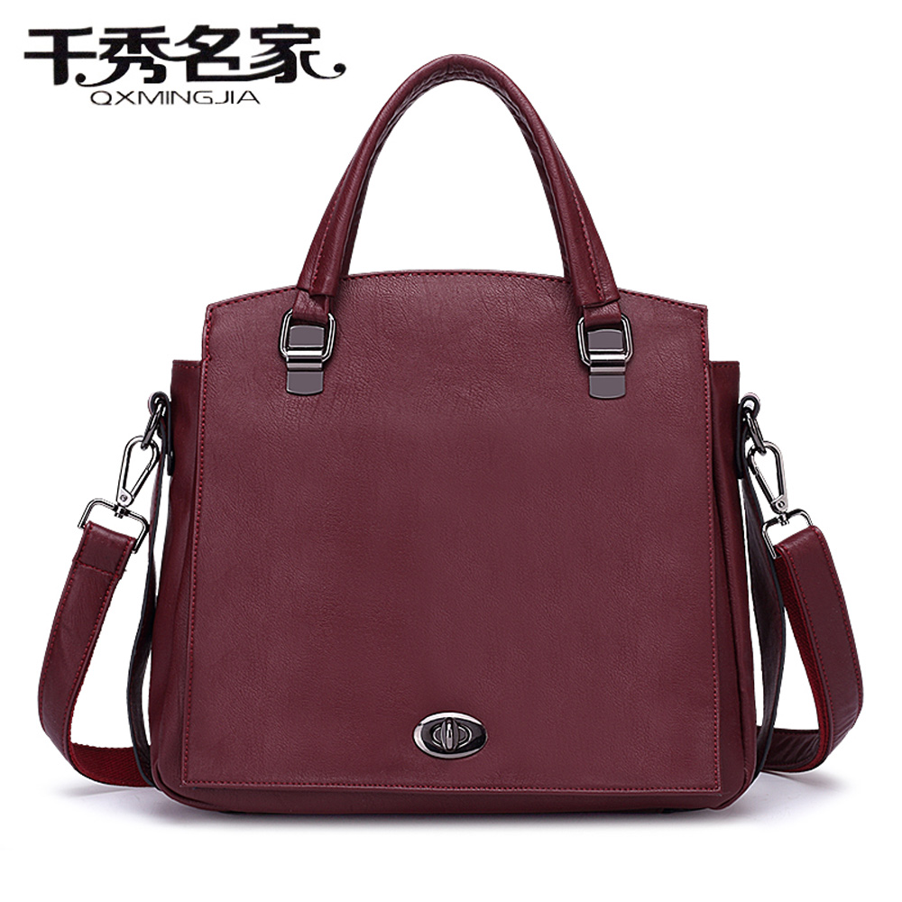 Free shipping PU Leather Bags Handbags Women Famous Brands Big Casual Women Bags Trunk Tote Shoulder Bag Ladies messenger bags<br>