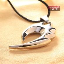 1pc The new fashion personality hook Spike necklace titanium steel pendant stainless steel necklace ! wings fell men necklace