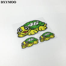 Pack of 3PCS Car Styling MotoGP Racing Rossi 46 Tortoise Motorcycle Helmet Bike Car Reflective Sticker(China)