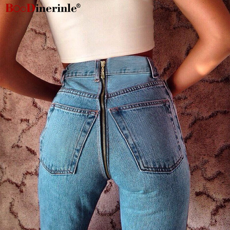 BOoDinerinle European Style Denim Pants Skinny Jeans Women High Waist Pencil Jeans Women Spring 2019 Sexy Back Zipper Trouser