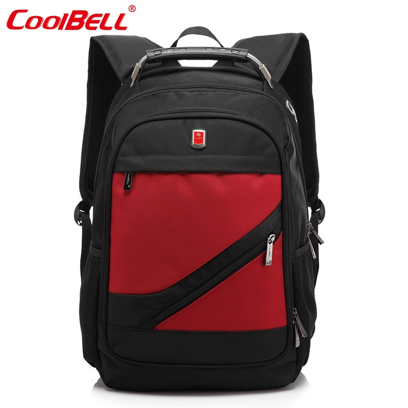 COOLBELL Men&amp; Women Laptop Backpack 15.6 Inch Rucksack SchooL Bag Travel Waterproof Backpack Men Notebook Computer Bag Black-FF<br>