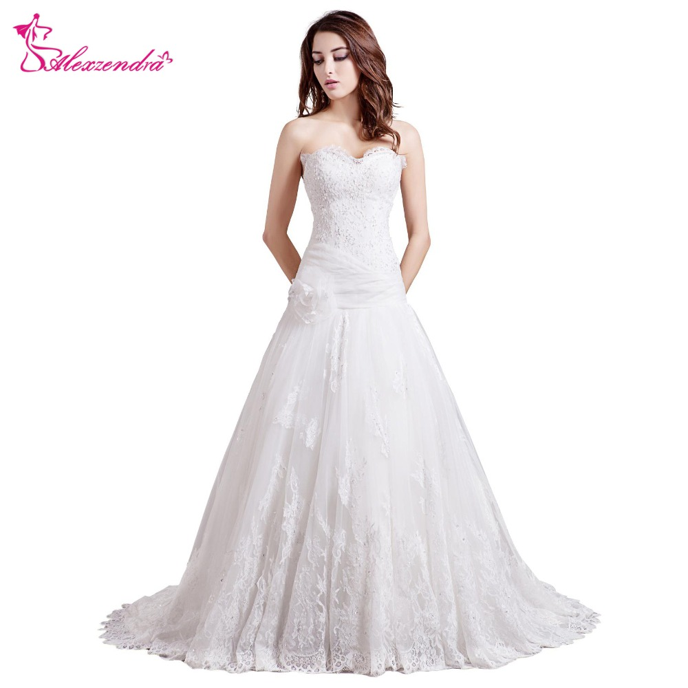Alexzendra New Sweetheart Lace Wedding Dress with Jacket Vintage Bridal Gowns Plus Size