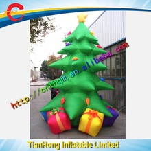 free air shipping to door,giant inflatable christmas tree,outdoor x-mas party decoration stand ornament