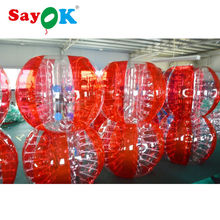 Big discount 1.8m(6ft) red TPU adult bumper ball wholesale inflatable body bumper ball for sale soccer inflatable body zorb ball